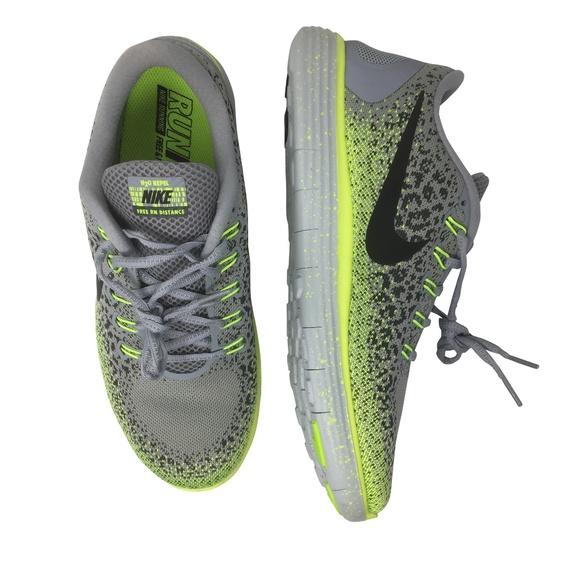 007a56b86ae7 NIKE Free Run Women 11 Sneaker Grey Neon Leopard
